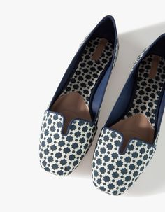 Print babouche slippers