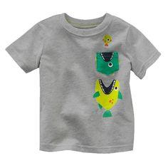 Bears's cotton kids baby infants boy short sleeve t-shirt shark fish tee