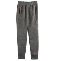 Boys 8-20 PUMA French Terry Jogger Pants, Size: Medium, Grey (Charcoal)