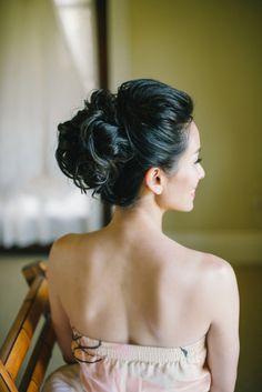 Bridal hair: http://www.stylemepretty.com/2014/10/09/romantic-outdoor-affair-in-a-sea-of-pastel/ | Photography: Delbarr Moradi - http://delbarrmoradi.com/