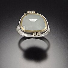 Gold, Silver, & Stone Ring by Ananda Khalsa