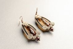 cappuccino - soutache earrings