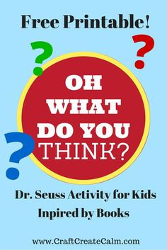 Dr. seuss activity for kids. Cute questions in the rhyming style of Dr. Seuss. Free Printable!