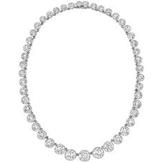 Estate Tiffany & Co. Important Diamond Riviere Necklace (~53 ct tw)