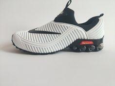 92031a56b1b9 Mens Nike Air Shox KPU White Black Footwear Black Running Shoes, Mens Nike  Air,