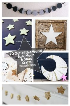 20 Out of This World Sun, Moon & Stars Crafts 20 amazing and out of this world sun, moon, star and outer space crafts you can make yourself! Space Party, Space Theme, Outer Space Bedroom, Outer Space Crafts, Space Baby Shower, You Are My Moon, Diy And Crafts, Crafts For Kids, Moon Crafts
