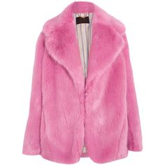 J.Crew Madison faux fur coat ($490) ❤ liked on Polyvore featuring outerwear, coats, jackets, coats & jackets, pink coat, pink fake fur coat, imitation fur coats, pink faux fur coats and fuzzy coat