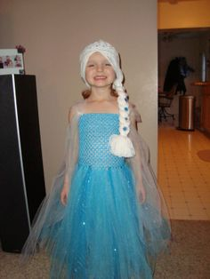 Elsa inspired Tutu Dress and Wig Hat Frozen by LilCutieCreations, $52.00