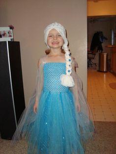 Elsa Tutu Dress and Wig Hat FROZEN Gorgeous by LilCutieCreations, $50.00