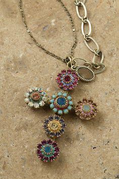 Pommee Swarovski® Crystal Medium Cross Necklace