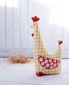 Chicken Doorstop from Half Yard Heaven by Debbie Shore