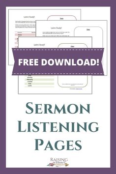 Teach your children to listen to the sermon and stay focused during church with these free Sermon Notes and Listening Pages for kids! Gentle Parenting, Parenting Advice, Free Sermons, Family Bible Study, Raising Godly Children, Bible Resources, Sermon Notes, Christian Parenting, Stay Focused