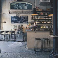 Industrial charm at Kafe Magasinet in Gotenburg, Sweden
