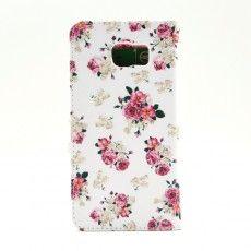 Etui fleur joli pour Samsung Galaxy Note 5 cuir - shiny