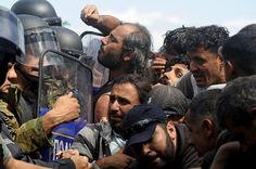 مقدونيا..انتهاء المواجهات بين الشرطة والمهاجرين بعد السماح لهم بدخول البلاد