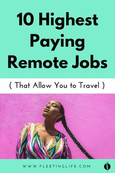 Here are the top 10 best remote jobs that pay a high salary and allow you to travel. Make Money Fast, Make Money Online, Earn Money, Job Work, Early Retirement, Digital Nomad, Work From Home Jobs, Holiday Trip, Travel Ideas