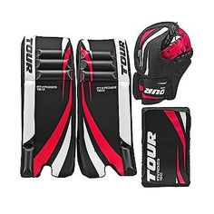 Leg Pads 79764: Tour Hockey Adult Invader 150 Hockey Goalie Pad Pack - G105ap Black-White-Red -> BUY IT NOW ONLY: $129.69 on eBay!