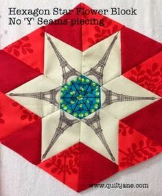 Hexagon Star Flower - No 'Y' Seams tutorial