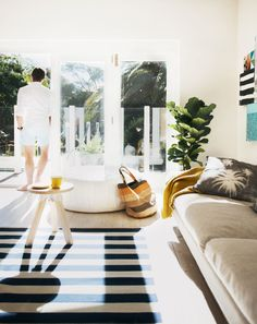 """""""Rearrange the floor plan of your living room — it's the ultimate no-cost decorating tip. Moving around your furniture will be a super quick update for the new season and will have you feeling brand new."""" —Jason Grant   - ELLEDecor.com"""
