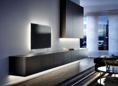 Living room - Sofas & armchairs, TV & media furniture & more - IKEA Ikea Living Room, Living Room Interior, Living Room Furniture, Interior Livingroom, Kitchen Interior, Home Design, Interior Design, Modern Wall Units, Media Furniture