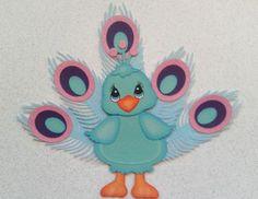 Scrapbook Paper Piecing Peacock Tiny Treasure by My Tear Bears Kira | eBay