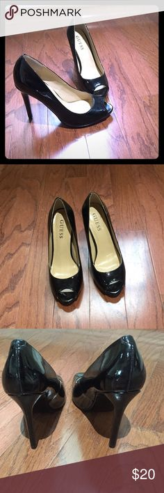 GUESS black peep toe pumps Black peep toe pumps with heel. Worn only once. Black Peep Toe Pumps, Guess Bags, Guess Shoes, Fashion Design, Fashion Tips, Fashion Trends, Peeps, Shoes Heels, Purses