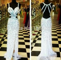 Find More Prom Dresses Information about 2014 New Design High Quality Mermaid Floor Length Sleeveless Sexy Sweetheart with Crystal Slit Backless Prom/Evening Dresses,High Quality sweetheart neckline prom dress,China dresses paintings Suppliers, Cheap sweetheart dress from Rose Wedding Dress Co., Ltd on Aliexpress.com