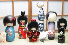 <3~~ Lovely Japanese Dolls, Adorables >> Dad Would Bring These Back for me from Several of his Months Long Stays for Business Trips to Japan ~~<3