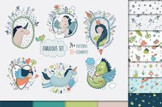 Cute princess collection by Peace ART on Vector set. Cute magic collection with princess, unicorn, dragon, fairy wings. Dream illustration of cute animals and flowers. Dream Illustration, Pencil Illustration, Graphic Illustration, Illustrations, Unicorn Princess, Cute Princess, Princess Party, Owl, Peace Art