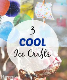 Kids will love sliding ice cube boats down snowy race tracks. See how to make them, plus 2 other #polarvortex-inspired ice #crafts.