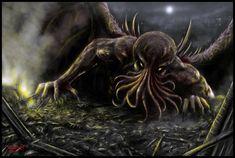 """Cthulhu is a fictional deity created by writer H. P. Lovecraft and first introduced in the short story """"The Call of Cthulhu"""", published in the…"""
