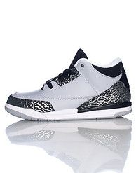 competitive price 7f5f8 953d2  NIKE  Jordan brand  Kid s mid top sneaker  Lace up closure  Padded tongue  with Nike logo  Loop heel pull on back  Cushioned inner sole for comfort   Nike ...