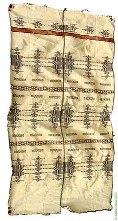 Africa | Hausa/Fulani Blanket Khasa from Niger or Nigeria | Wool and cotton Handspun | mid 20th century
