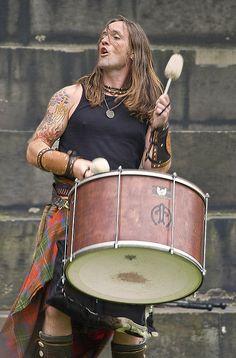Albannach drummer Jamesie Johnston.
