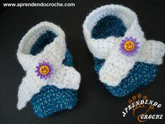 Sapatinho de Bebê em Crochê Pequetito - Moda Bebê - Aprendendo Croche