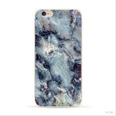 Blue Marble Stone Print Soft Phone Case For iPhone 6 Plus 5.5''