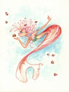 mermaid and little fishies :)