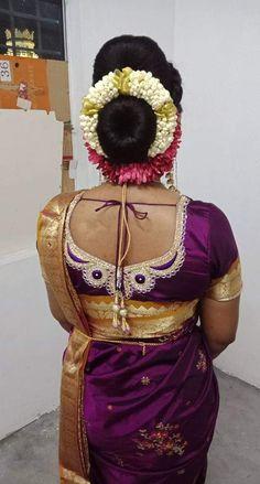 Banarsi Saree, Hair Buns, Bun Hairstyles, Blouse Designs, Captain Hat, Exotic, Braids, Hair Styles, Hats