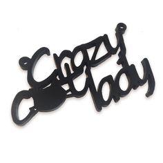 Crazy cat lady laser cut word charm