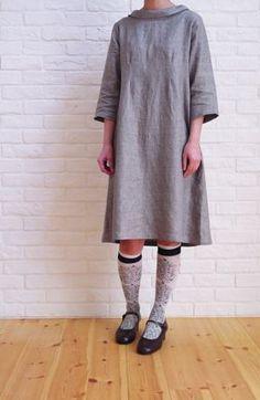 Sewn Raglan Shirt, Tunic + Dress in Lana Cotta Canberra   Purl ...