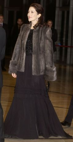Crown Princess Mary of Denmark attends the official opening of the Opera House 2005