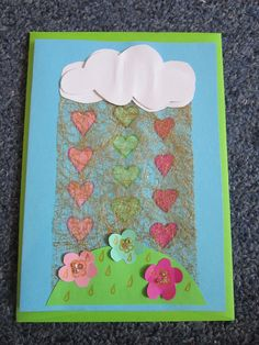Raining Love card, a sweet gift for your loved ones