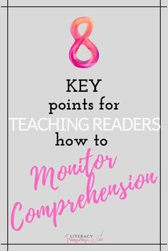Monitoring comprehension is a process that readers of all ages need to understand and revisit throughout their development towards reading proficiency. Readers must recognize the basic signals when meaning is breaking down while they read increasingly difficult texts.