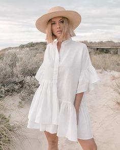 Beach Dresses, Women's Dresses, Dress Beach, Linen Dresses, Spring Dresses, Spring Outfits, Look Fashion, Fashion Outfits, Womens Fashion
