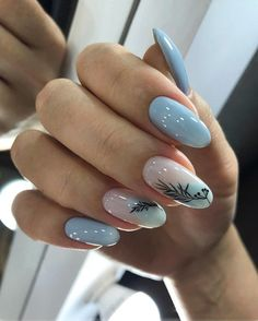 Nail art Christmas - the festive spirit on the nails. Over 70 creative ideas and tutorials - My Nails Hair And Nails, My Nails, Nail Manicure, Nail Polish, Instagram Nails, Dream Nails, Artificial Nails, Nail Decorations, Blue Nails