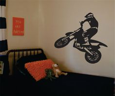 Dirtbiker Decal Sticker Wall Vinyl Art Moto X Sport Teen by BoopDecals on Etsy https://www.etsy.com/listing/151117623/dirtbiker-decal-sticker-wall-vinyl-art