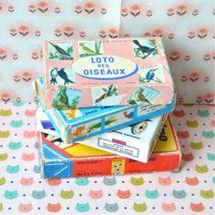 Loto des oiseaux Fernand Nathan vintage - deco-graphic.com