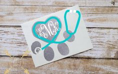 Veterinarian Monogram Glitter Vinyl Decal, Custom Initials, Glitter Sticker, Stethoscope, Paw Print Vet Tech, Veterinarian, Vet Gifts, Love Pets, Cat, Dog, Paw Print, Stethoscope, Paw Print Monogram, Glitter Monogram