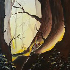 Into the woods Acryl  50 x 50 cm