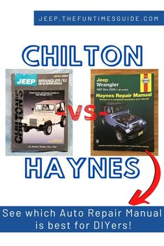 Chilton manuals and Haynes manuals are the best auto repair manuals -- so which one should you use as a DIYer? There is one major difference between Chilton vs. See what it is. and which manual most DIYers prefer. Diy Home Repair, Repair Shop, Garage Repair, Management Books, Jeep Commander, Jeep Wrangler Yj, Car Repair Service, Oil Change